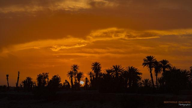 Sonnenuntergang bei Ouled Driss; Marokko