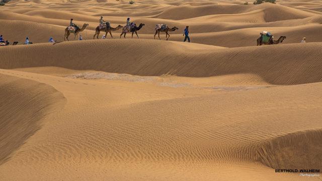 Kameltrekking nahe Ouled Driss; Marokko