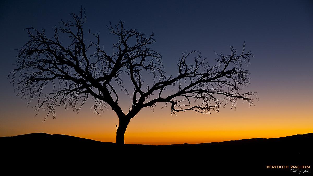 Sunset im Sossusvlei; Namibia