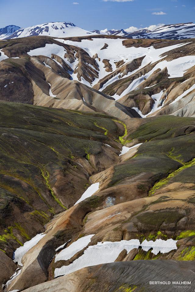 Gemälde der Natur in Landmannalaugar