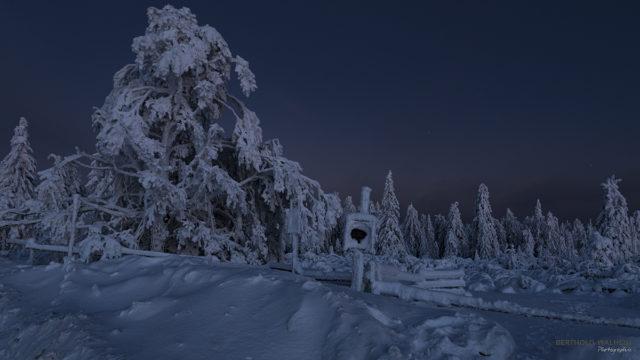 Es wird Nacht über Winterwonderland