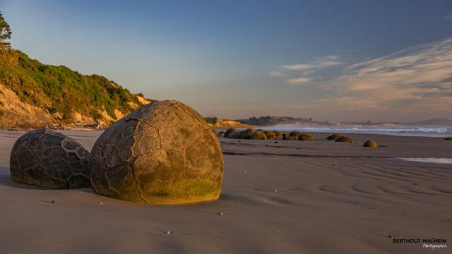 Moeraki Boulders Beach, Neuseeland