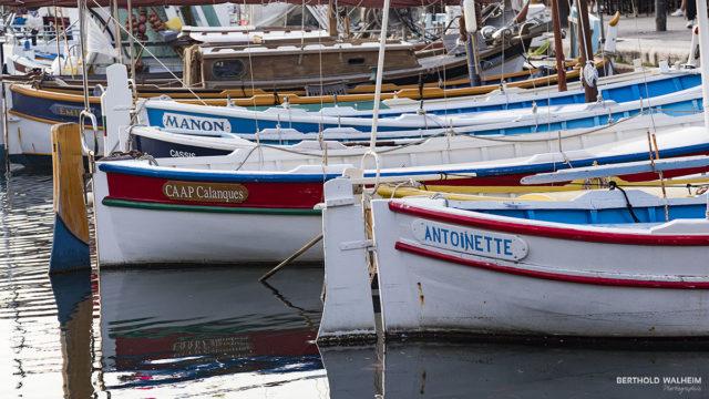 Boote am Hafen von Cassis