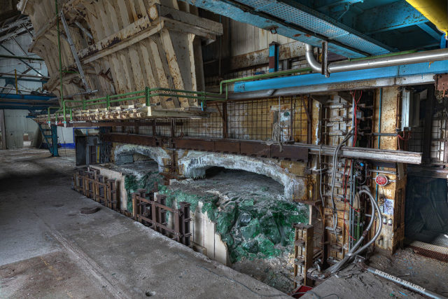 Die verlassene Glasfabrik