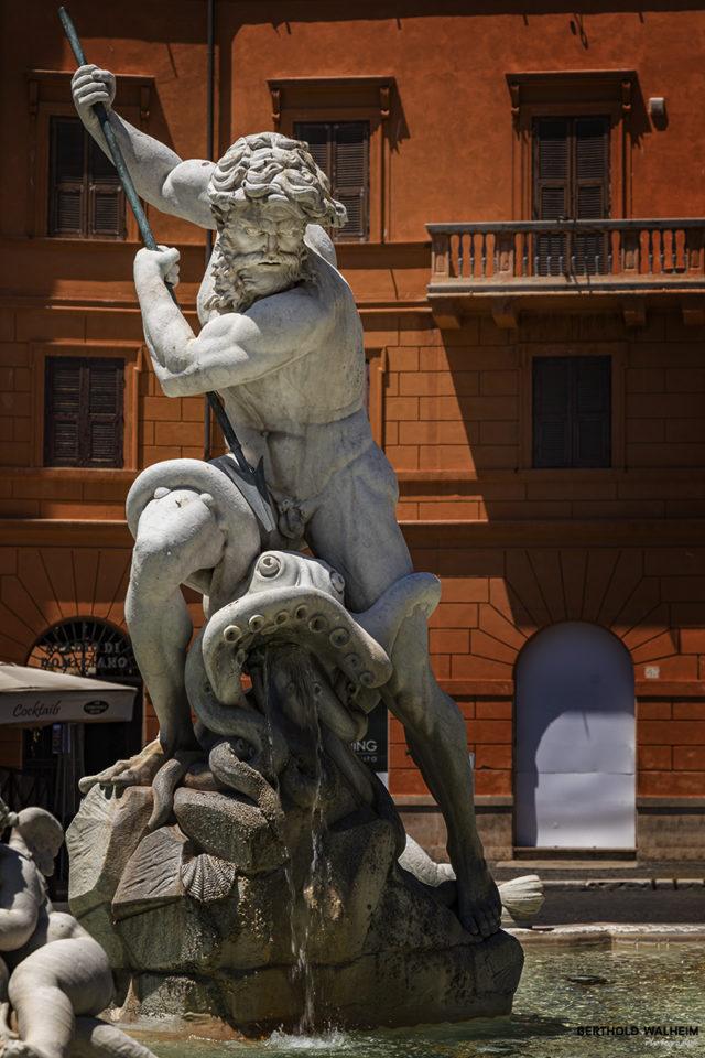 Rom; Neptun am gleichnamigen Brunnen