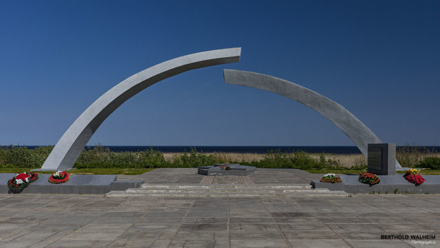 "Monument ""Broken Ring"" on the ""Road of Life"" am Ladogasee, Russland"