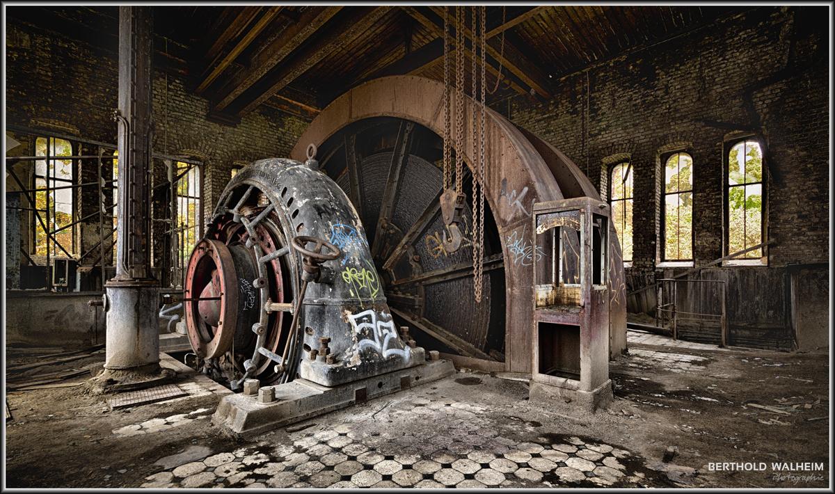 Aufzugsmaschine einer Zeche