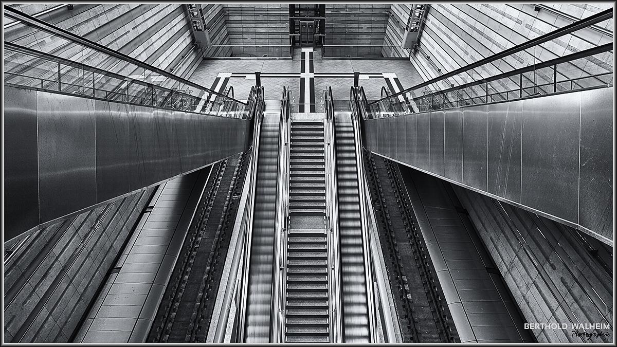 Rolltreppe im HBF Leipzig
